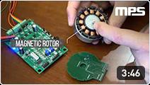 Magnetic angle sensor for BLDC brushless DC motor